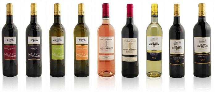 couper des bouteilles de vin